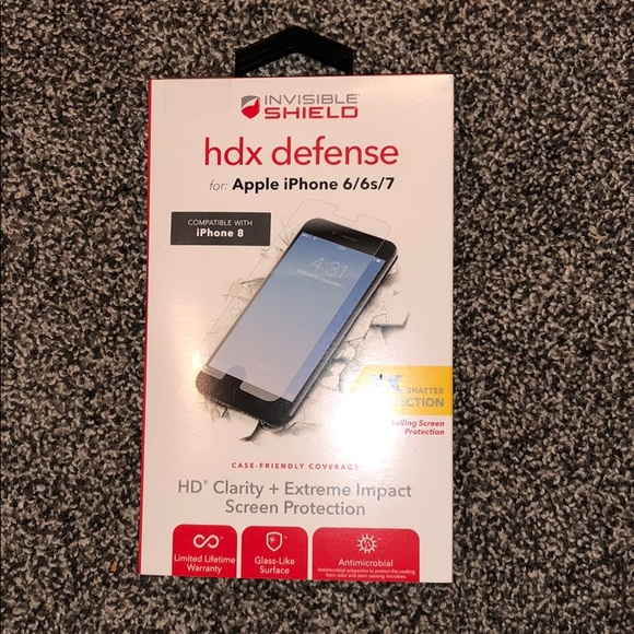 half off f556b a539e Zagg Invisible Shield hdx defense screen protector NWT